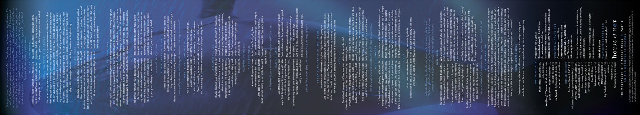 On The Madness of Crowds Lyrics Insert