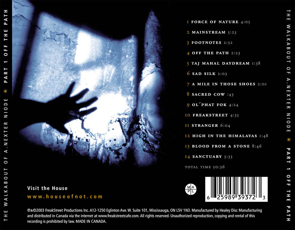 Off The Path Back Cover