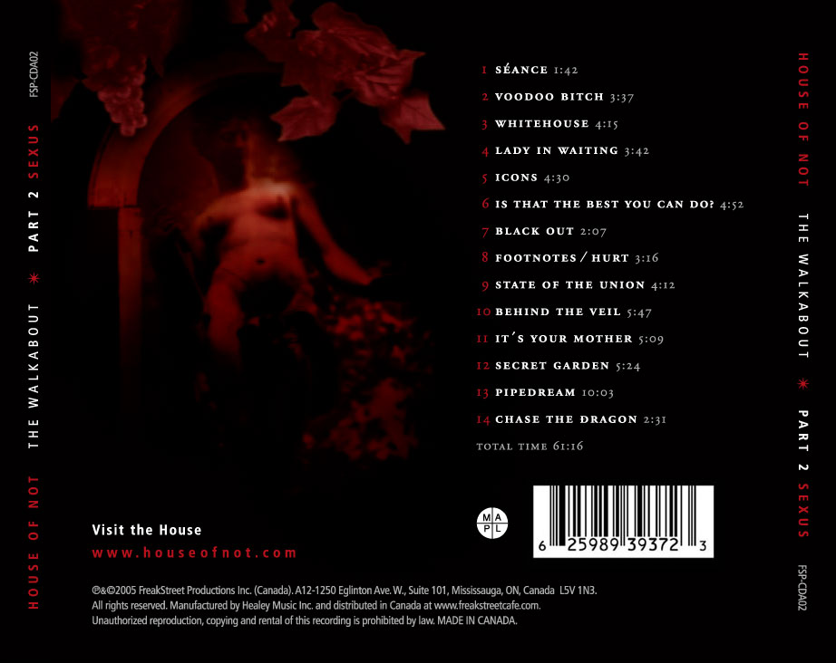 Sexus Back Cover